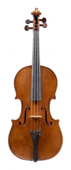 Front of a violin by George Wulme-Hudson, 1910