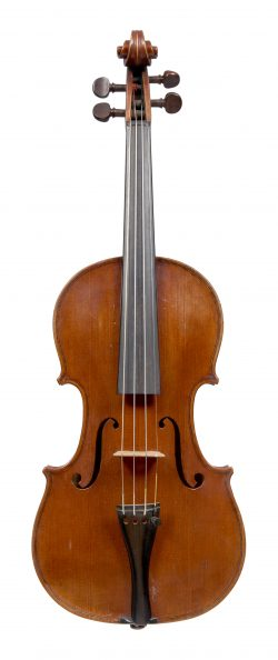 Front of a violin by George Wulme-Hudson, London, 1948