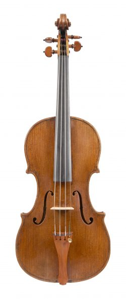 Front of a violin by George Wulme-Hudson, London, circa 1900