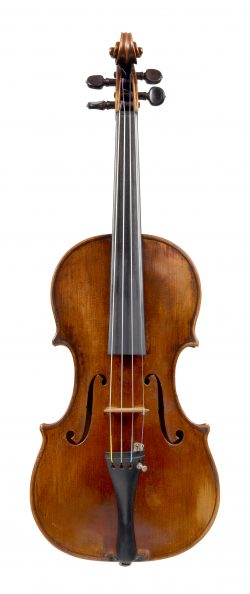 Front of a violin by George Wulme-Hudson, London, Early 20th century