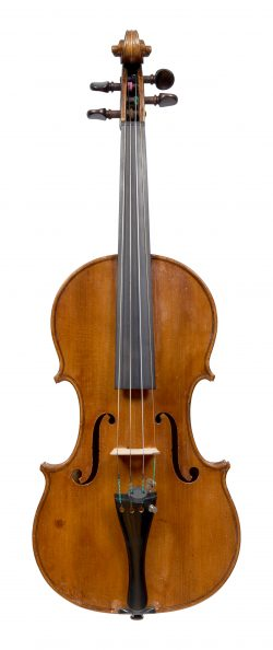 Front of a violin by George Adolph Chanot, London, 1898