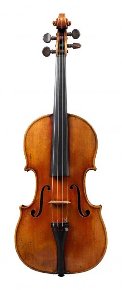 front of a violin by Georges Chanot, Paris, 1847