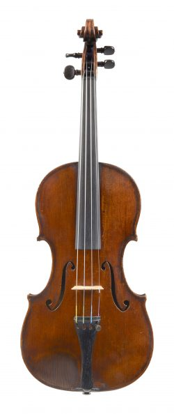 Front of a violin by Georges Chanot, 1840
