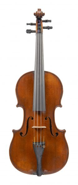Front of a violin by by Georges Chanot II, London, c1880