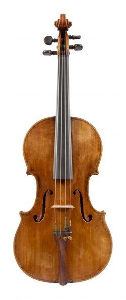 Front of a violin by Giacinto Santagiuliana, Vicenza, 1816