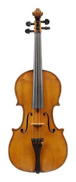 Front of a violin by Giacomo Rivolta, Milan, 1830