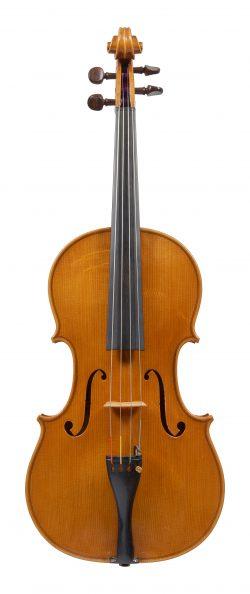 Front of a violin by Giorgio Scolari, Cremona, 1975