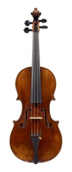 Front of a violin by Giovanni Battista Ceruti, Cremona, circa 1810