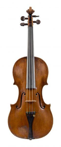Front of a violin by Giovanni Battista Gabrielli, Florence, c1760