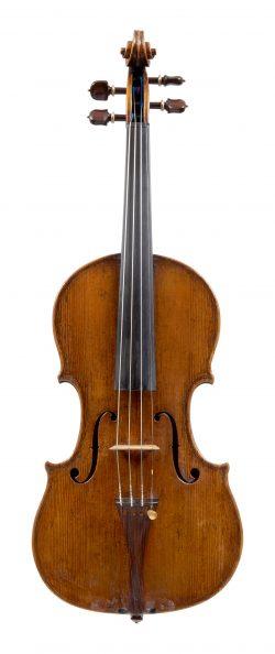 Front of a violin by Giovanni Battista Grancino, Milan, circa 1715