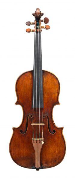Front of a violin by Giovanni Battista Guadagnini, 1742, Piacenza, ex-Cubberly