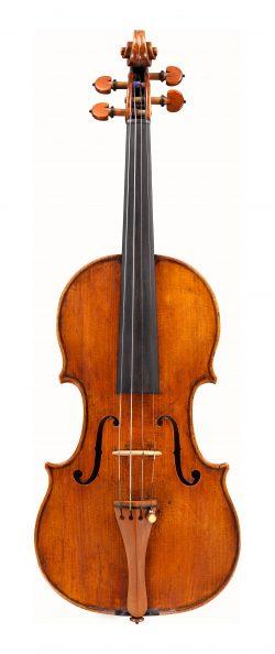 front of a violin by Giovanni Battista Rogeri, Brescia, 1705
