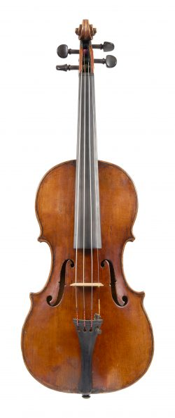 Front of a violin by Giovanni Dollenz, Trieste, circa 1850