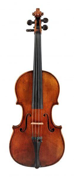 Front of a violin by GIovanni Francesco Pressenda, Turin, c1825