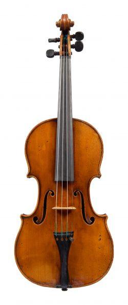 Front of a violin by Giovanni Francesco, Pressenda, Turin, 1843