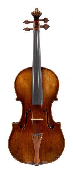 Front of a violin by Giovanni Francesco Pressenda, Turin, 1845