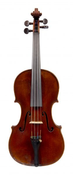 Front of a violin by GIovanni Gaida, Ivrea, 1900
