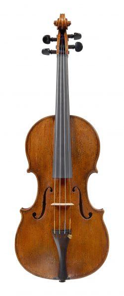Front of a violin by Giovanni Grancino, Milan, circa 1695