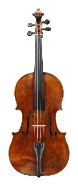 Front of a viola by Giovanni Pistucci, Naples, c1935