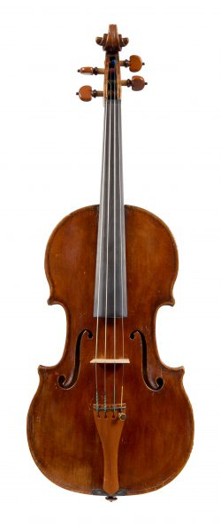 Front of a violin by Giovanni Pistucci, Naples, c1930