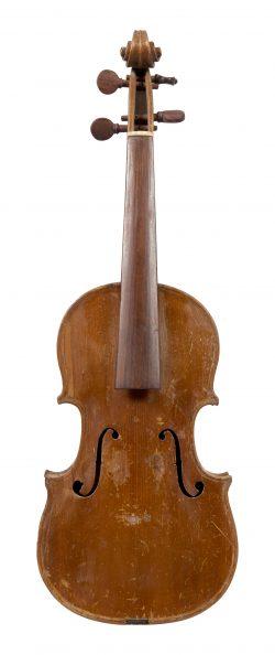 Front of a child's violin by Giuseppe, Antonio and Giovanni Gagliano, Naples, 1818