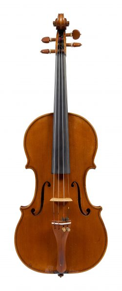 Front of a violin by Giuseppe Fiorini, Zurich, 1919