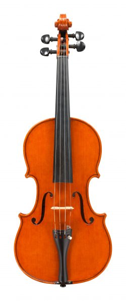 Front of a violin by Giuseppe Lucci, Rome, 1971