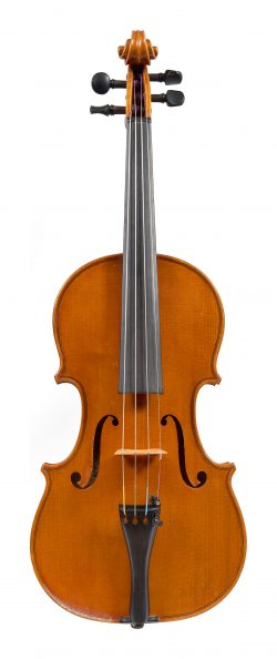 Front of a violin by Giuseppe Lucci, Rome, 1973