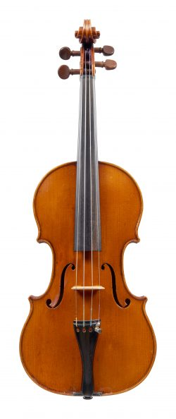 Front of a violin by Giuseppe Pedrazzini, Milan, 1928