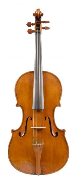 Front of a viola by Giuseppe Rocca, Parma, 1852