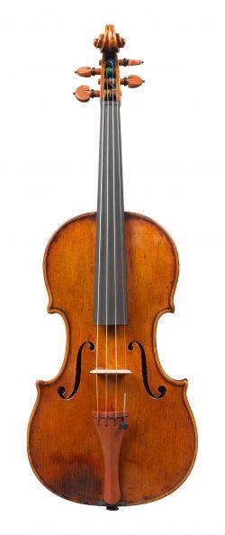 front of a violin by Giuseppe Rocca, Genoa, 1843, ex-campoli