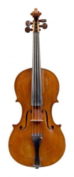 Front of a violin by Giuseppe Sgarbi, Modena