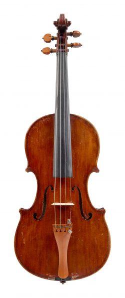 Front of a violin by Guido Maraviglia, Pistoia, 1965
