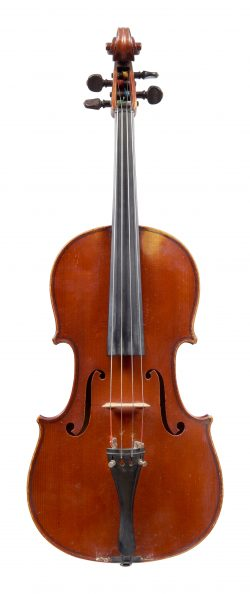 Front of a viola by Gustave Adolphe Bernardel, Paris, 1901