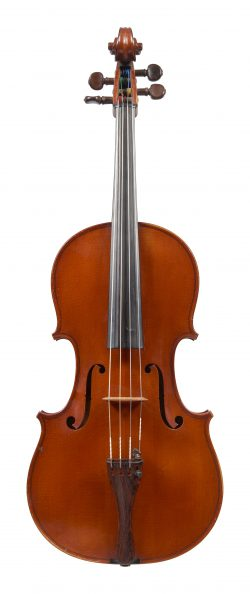 Front of a viola by Gustave Adolphe Bernardel, Paris, 1894