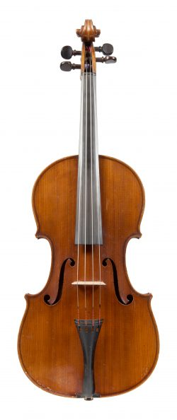 Front of a viola by Hilaire Darche, Brussels, 1900