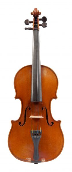 Front of a violin by Hilaire Darche, Brussels, 1908