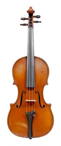 Front of a violin by Hilaire Darche, Brussels, 1910