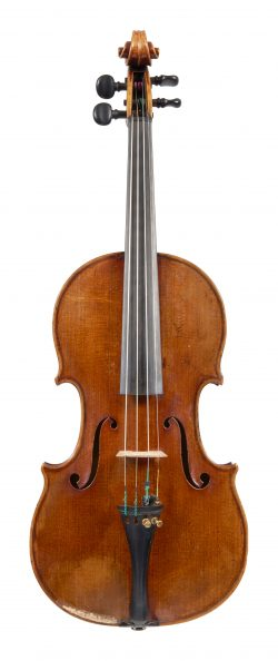 Front of a violin by Hippolyte Chrétien Silvestre, Paris, 1847