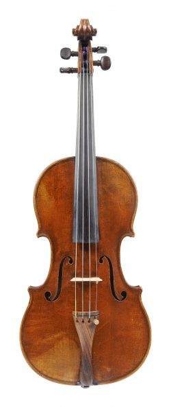 Front of a violin by Hippolyte Silvestre, c1850