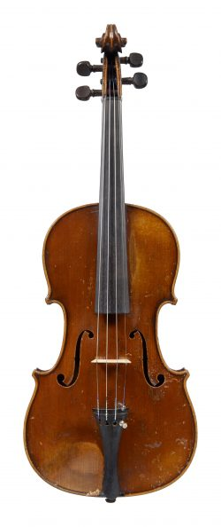 Front of a violin by Honoré Derazey, Mirecourt, 1835