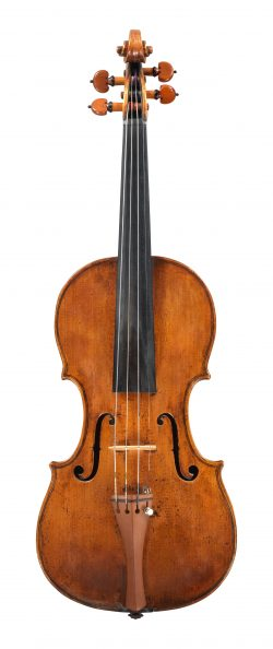 Front of a violin by Jacob Stainer, Absam, 1663