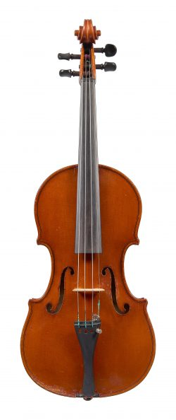 Front of a violin by Jago Peternella, New York, 1925