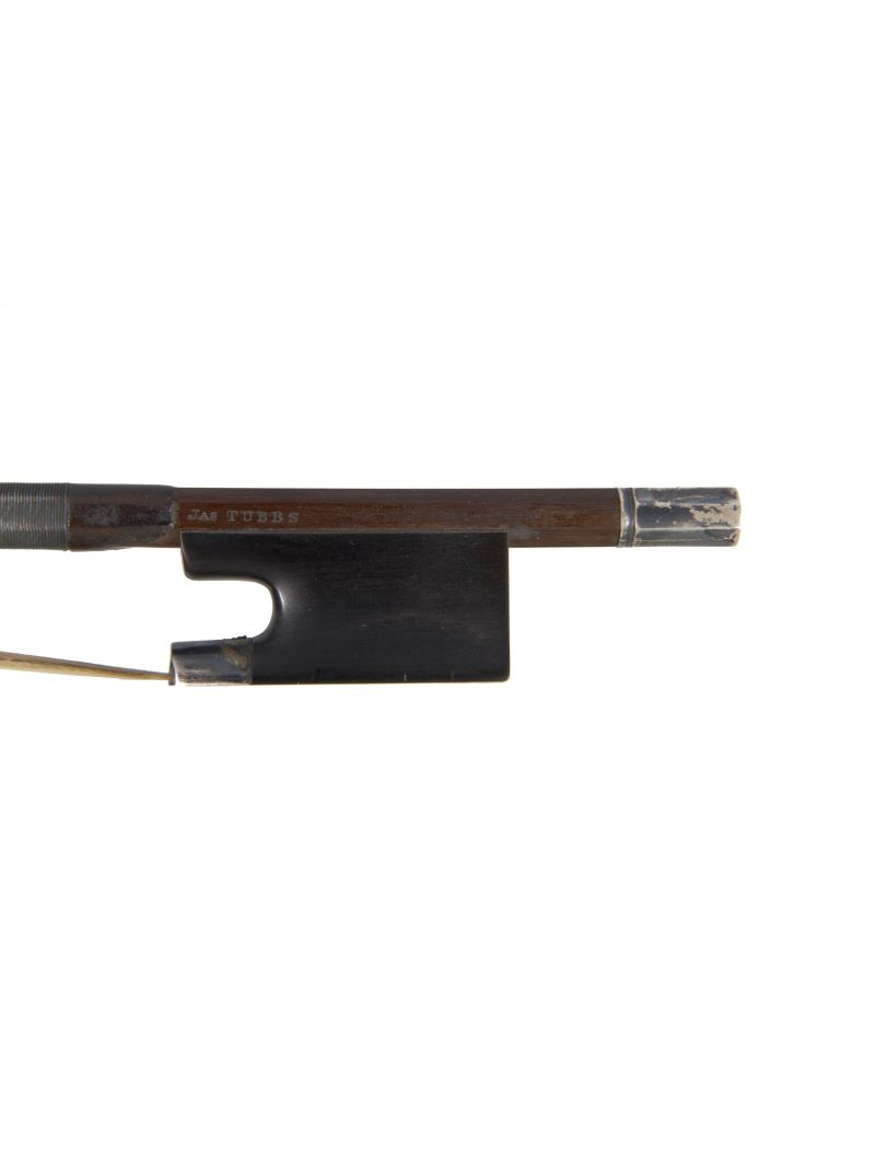 Frog of a silver-mounted viola bow by James Tubbs, London, circa 1900