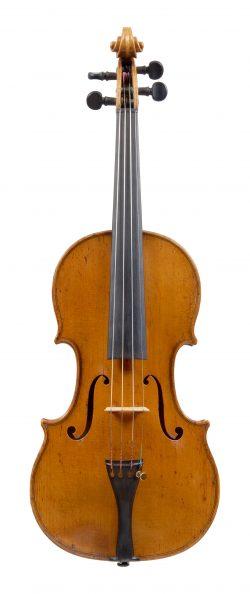 Front of a violin by Jan Kulik, Prague, 1862
