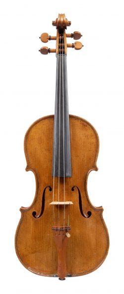 Front of a violin by János Tóth, Budapest, 1933