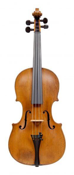 Front of a violin by Jean Baptiste Deshayes Salomon, Paris, mid-18th century