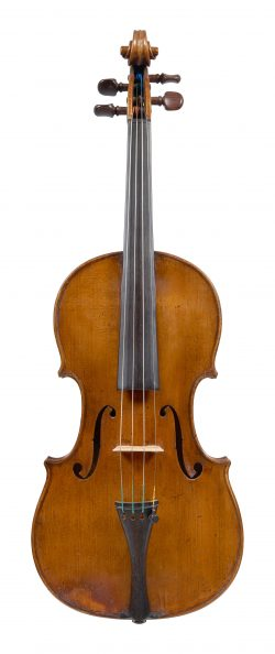 Front of a violin by Jean Baptiste Deshayes Salomon, Paris, circa 1760