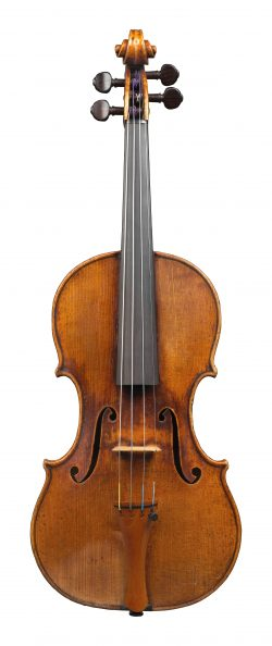 Front of a violin by Jean-Baptiste Vuillaume, Paris, c1840