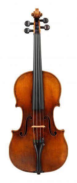 front of a violin by Jean-Baptiste Vuillaume, 1845